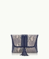 GiGi New York Ava Clutch Blue-Multi Genuine Anaconda