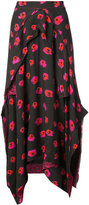 Proenza Schouler embroidered draped skirt
