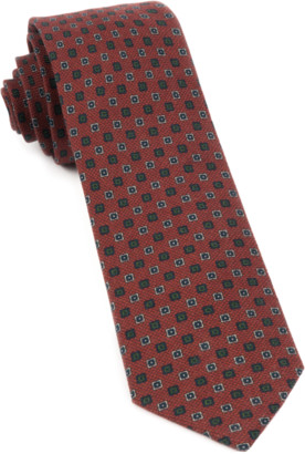 The Tie BarThe Tie Bar Burnt Orange Medallion Medley Tie