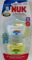 NUK Gerber Newborn Orthodontic Pacifier Latex Size1 - 2 ea-Colors Vary