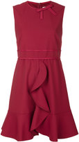 RED Valentino frill detail dress - women - Polyester/Spandex/Elastane/Acetate/Viscose - 40