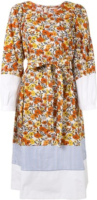 Tory Burch Printed Floral Prairie Dress