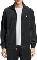 Fila Velour Stand-Collar Jacket, Black