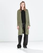 Zara Studio Loose-Fit Long Blazer