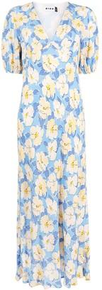 Rixo Poppy azelea bloom-print dress