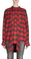 Balenciaga Flannel Button-Front Shirt