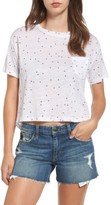 Rails Women's Billie Crop Linen Blend Tee