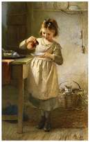 Art.com Girl with a Kitten Premium Giclee Print By Emily Farmer - 46x61 cm