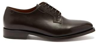 Lanvin Ruby Leather Derby Shoes - Mens - Brown