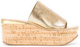 Chloé Camille wedge mules - women - Goat Skin/Leather - 36