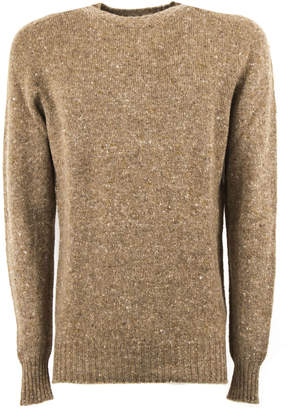 Drumohr Beige Virgin Wool And Cashmere Jumper