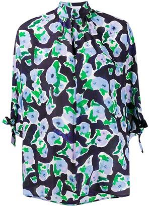 Christian Wijnants Magnolia print shirt
