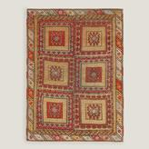 "4'6""x6'2"" Vintage Bold Tile Turkish Area Rug"