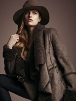 RD Style Drape Front Shearling Jacket