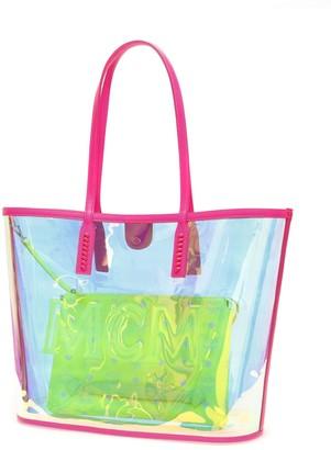 MCM Logo Shopper Tote Bag