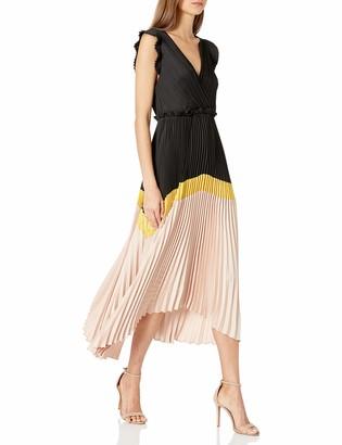 BCBGMAXAZRIA Women's Long Pleated Dress