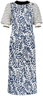 Navy Feathers Dress