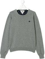 Macchia J star intarsia detail jumper