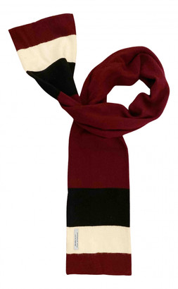 Prada Burgundy Wool Scarves & pocket squares