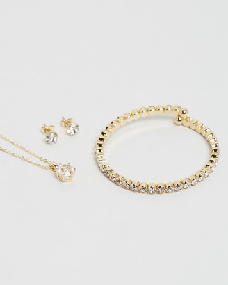 Mestige Luxurious Necklace, Bracelet & Earrings Set