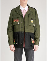 Gucci Insect-embroidered Cotton And Wool Jacket