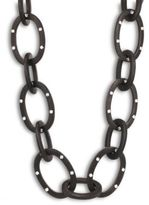 Josie Natori Acacia Wood Link Necklace
