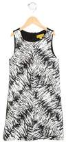 Nicole Miller Girls' Printed Faux Leather Dress