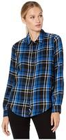 Lucky Brand Classic One-Pocket Plaid Shirt (Cobalt Multi) Women's Clothing