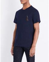 Salvatore Ferragamo Embroidered Cotton-jersey T-shirt