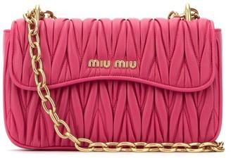 Miu Miu Matelasse Logo Shoulder Bag