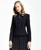Brooks Brothers Petite Plaid Corded Suit Jacket