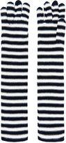 Sonia Rykiel Bi-Colour Wool Stripe Gloves