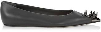 Alexander McQueen Punk Stud Leather Ballet Flats