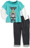 Infant Boy's Rosie Pope Nerdy Layered Shirt & Sweatpants Set