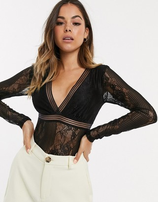 New Look lace body in black