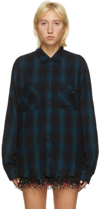 Amiri Blue Core Shadow Plaid Shirt