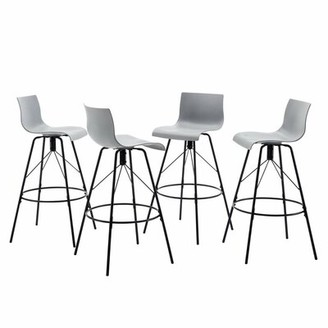 "Brayden Studio Flara Kitchen Counter 30"" Bar Stool Brayden Studio"