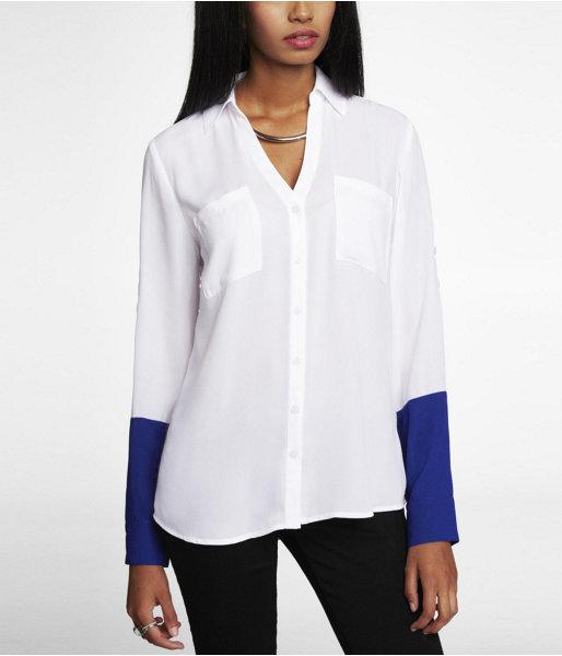 Express Color Block Portofino Shirt