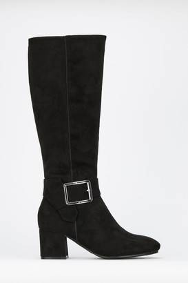 Wallis Black Buckle Boots
