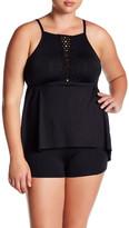 Becca Black Beauties Tankini Top (Plus Size)