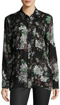 Knot Sisters Shanghai Floral-Print Shirt, Black Pattern