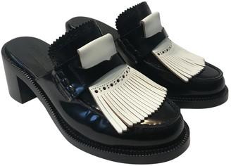 Burberry Black Leather Flats