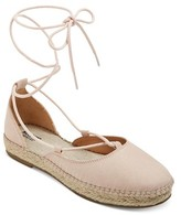 Mossimo Women's Elinor d'Orsay Ghillie Lace Up Espadrille Ballet Flats