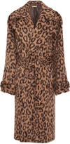 Michael Kors Oversized Leopard Brushed Trench Coat