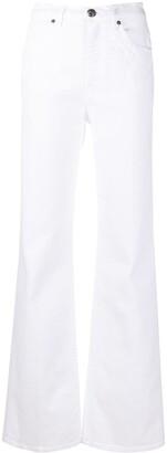 Etro High-Waist Devore Bootcut Jeans