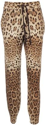 Dolce & Gabbana Animalier Printed Track Pants