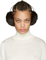 Yves Salomon Brown Fur Earmuffs