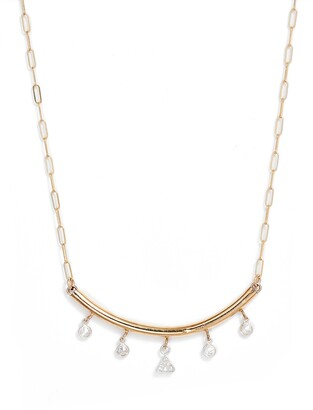 Set & Stones Sadie Curved Bar Pendant Necklace