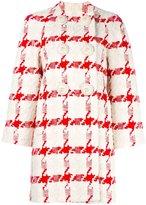Alexander McQueen houndstooth bouclé coat - women - Silk/Cotton/Linen/Flax/Cupro - 38