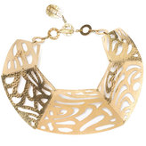 Josie Natori Gold CutOut Necklace